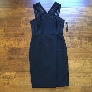 Tahari Classic Black Dress Nieman Marcus NEW!!